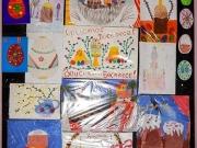 Выставочный стенд с работами учеников