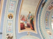 Фрагмент росписи. Икона Успения Богородицы.
