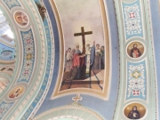 Фрагмент росписи. Икона Воздвижения Креста Господня.