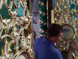 Реставрация иконостаса во Всехсвятском приделе.