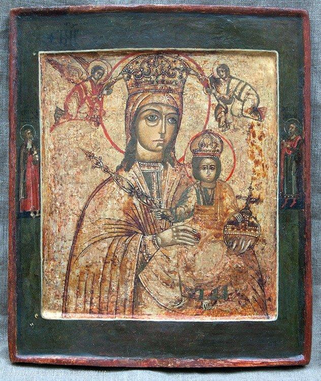 Икона Богородицы «Одигитрия», 18 век, после реставрации