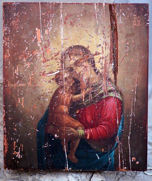 Икона Богородицы «Взыскание погибших», до реставрации