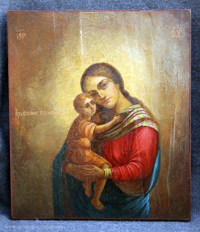 Икона Богородицы «Взыскание погибших», после реставрации