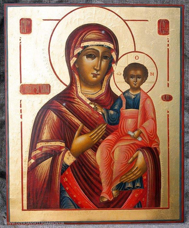 Икона Богородицы «Одигитрия» Ветковской школы, после реставрации