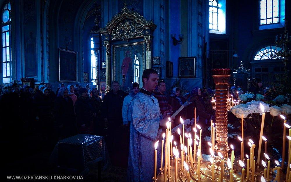 Свято-Озерянский храм. Вход Господень в Иерусалим, вечернее богослужение. 20 апреля 2019 г.