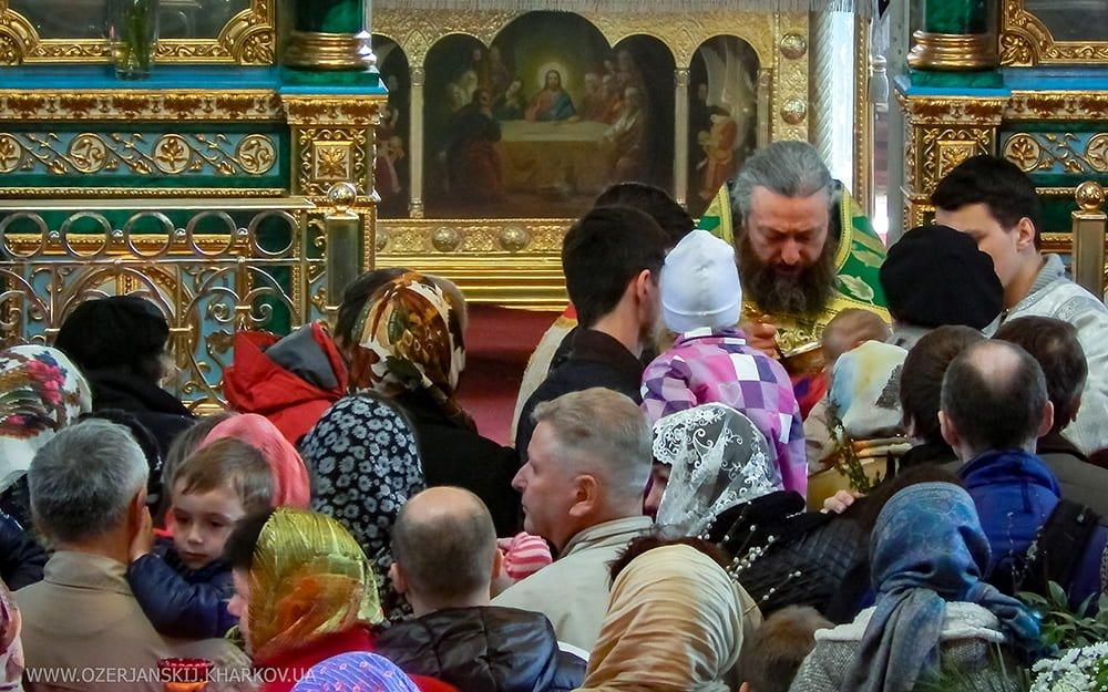 Свято-Озерянский храм. Вход Господень в Иерусалим, Божественная Литургия. 21 апреля 2019 г.